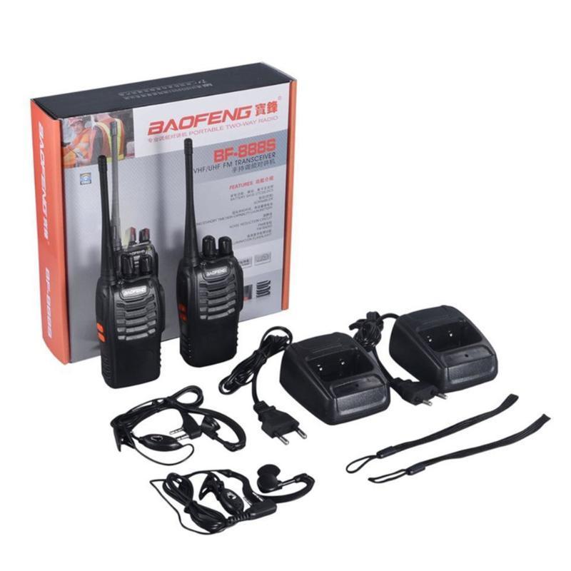 Baofeng BF-888S 2 PCS VHF / UHF портативный FM трансиверов аккумуляторная Walkie Talkie Два Senses 5W 2-полосная радиолюбитель comunicador EUplu
