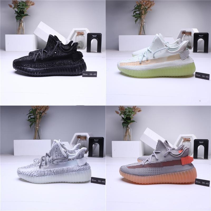 2020 preto Kanye clássico Creme Branco Homens Mulheres Designer Sneakers West New Antlia estática Reflective argila Running Shoes