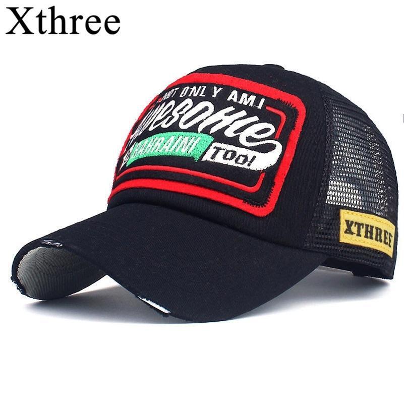 Xthree Sommer Baseballmütze Stickerei Mesh Cap Hüte für Männer Frauen Snapback Gorras Hombre Hüte Casual Hip Hop Caps Dad Casquette 201026