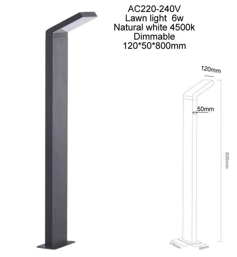 Dimbar LED-downlight LED LAWN LAMP Vägglampa 6W 9W LED AC85-265V