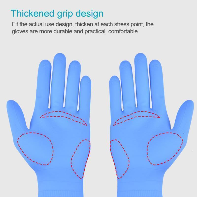 FACTORYYO53RUBBER Reutilizable Latex Food Food Gloves de nitrilo Limpieza doméstica Limpieza de vinilo Dropship En stock