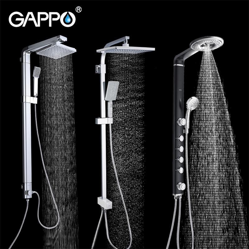 Gappo System 욕실 목욕 세트 비 샤워 헤드 욕조 도청 수도꼭지 믹서 LJ201212