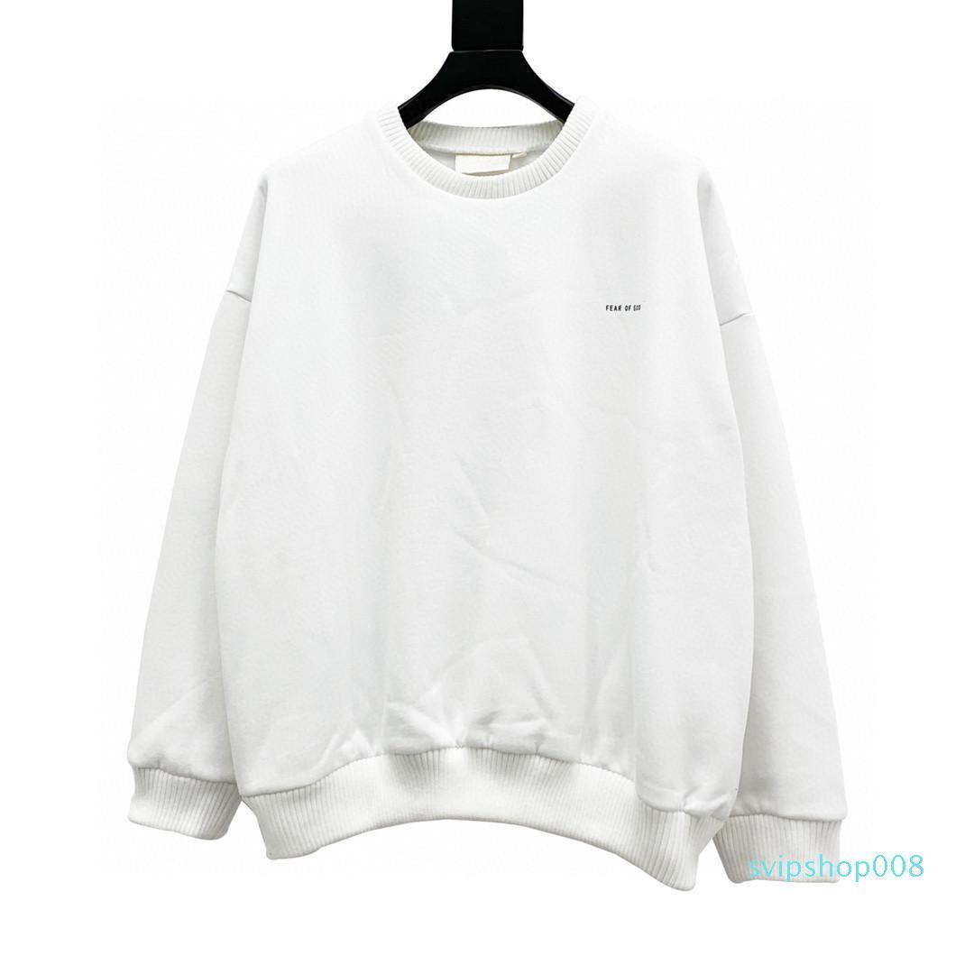 Miedo Streetwear dios x essentials calidad de impresión hombres mujeres ropa niebla z larga sudaderas manga top s-xl # 01 qghqm