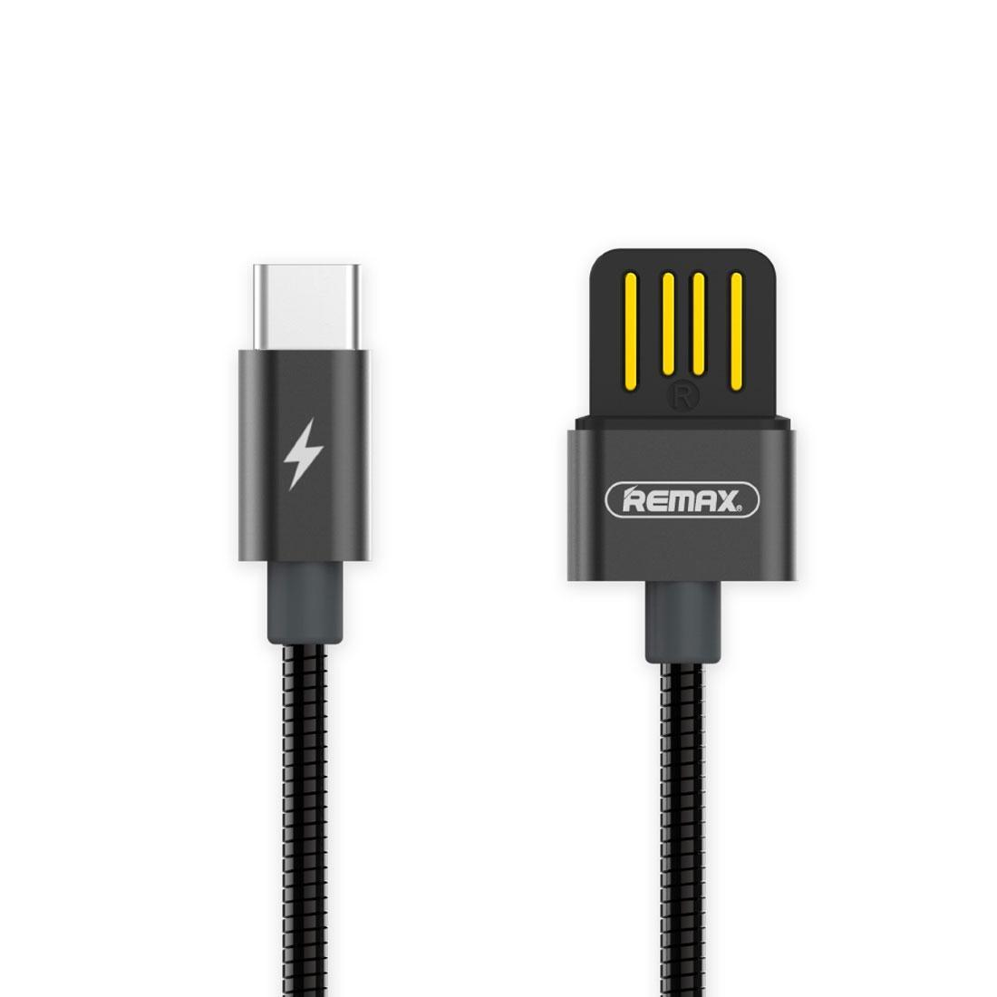 REMAX RC-080A 1m USB vers USB-C Type-C Sync Câble pour Samsung Huawei Xiaomi LeTV Meizu Sony HTC et autres Smartphones