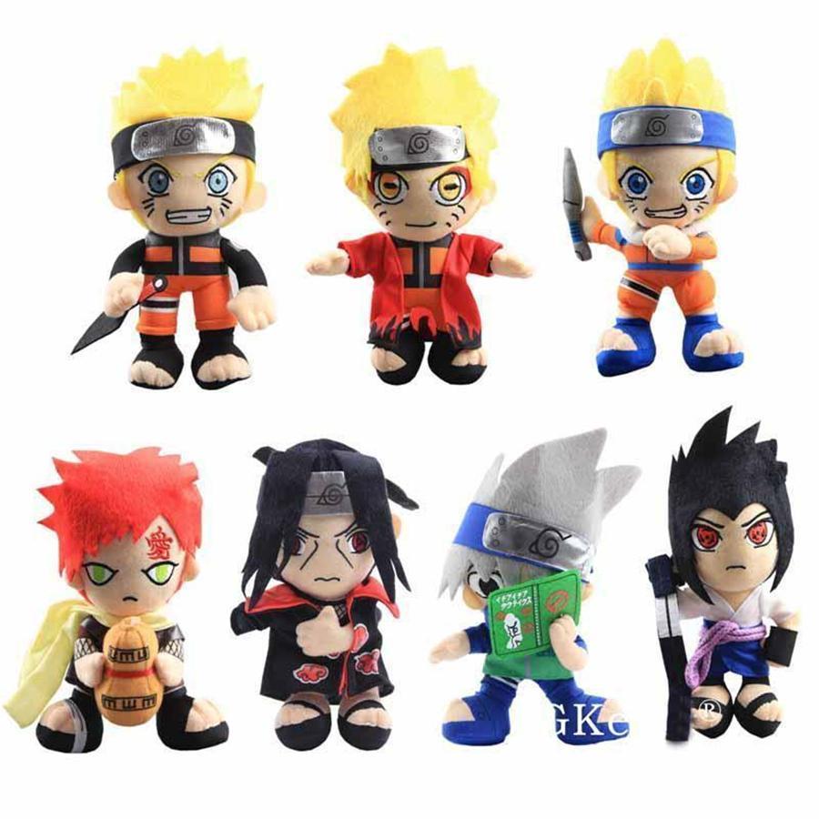 20 cm anime naruto brinquedos de pelúcia legal gaara hatake kakashi uchiha itachi sasuke suaves bonecos de pelúcia presentes de natal crianças brinquedos DHL frete