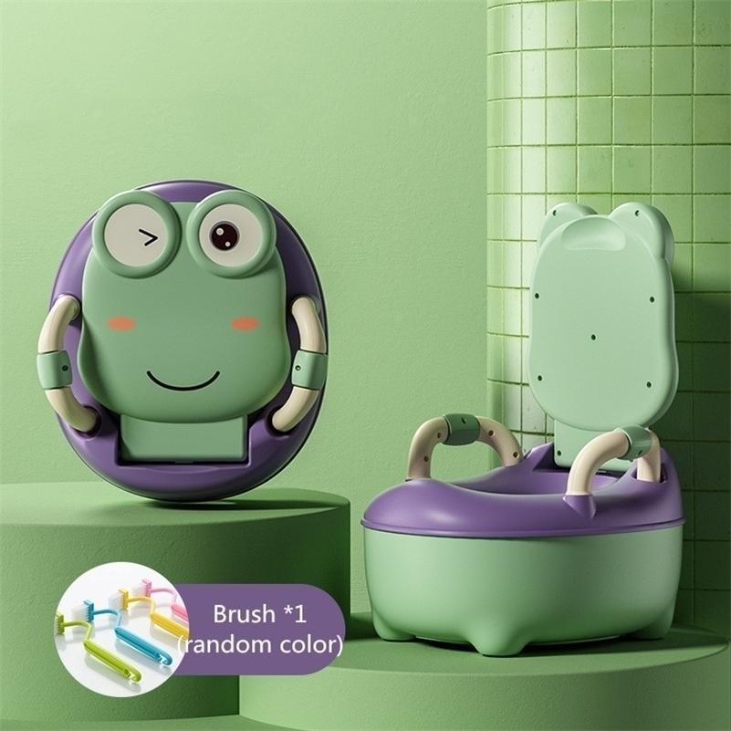 WC lavabile Baby Kids Frog Pot Formazione Ragazze Ragazze rimovibili Vasty Bambini Sedia Sedia da toilette Pot Vaso per bambini Portatile Baby vasino 201009