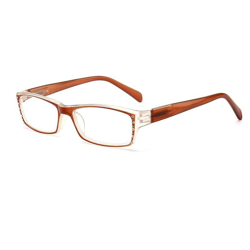 los vidrios de las mujeres de luz azul a prueba de agua para la lectura de los vidrios de la lupa Leesbril gafas de lectura Oculos de vista Diamond N9 Marco