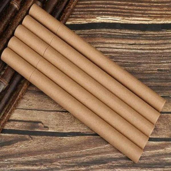 Kraft kağıt tütsü tüpü tütsü varil küçük saklama kutusu için 10g 20g joss sopa uygun taşıma kağıt parfüm tüpü