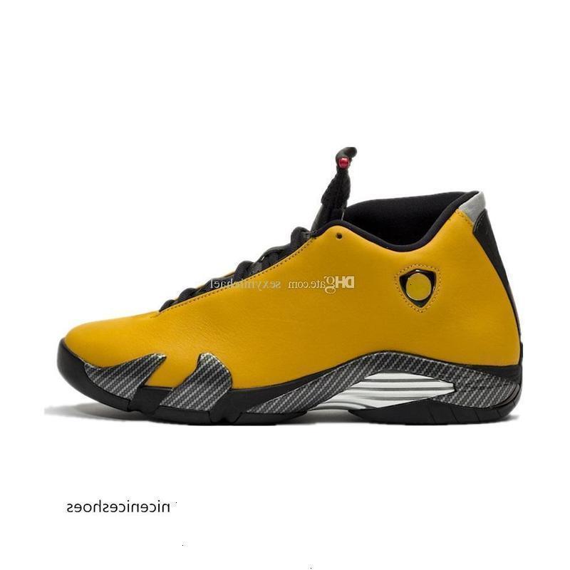 Обратная ферма 14 14s Баскетбольная обувь Желтые черные мужские кроссовки дешевые новые спортивные кроссовки с коробкой OXJ