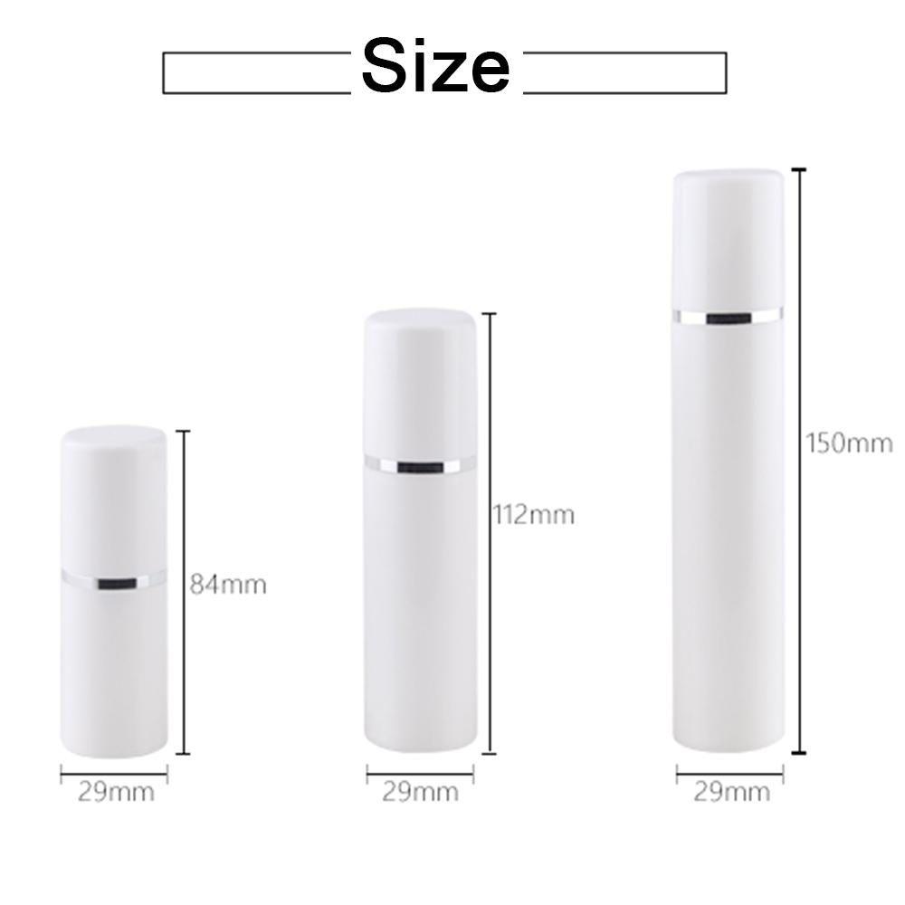 15 30 50 мл Пустой пополненный белый высококачественный безвоздушный вакуумный насос бутылка пластиковые кремовые лосьон контейнерные трубки Размер перемещения EEF3935