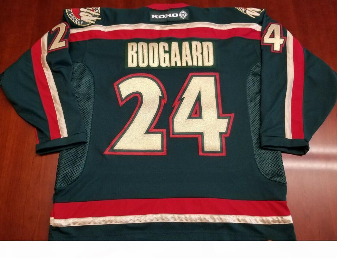 Custom Men Youth women Derek Boogaard Hockey Jersey Size S-4XL or custom any name or number