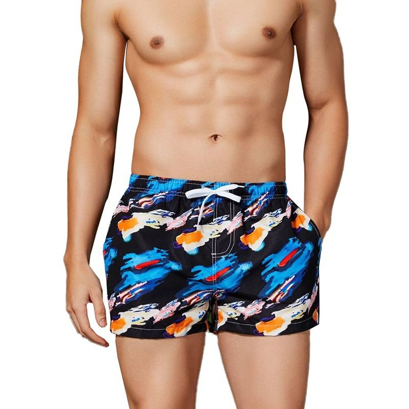 WEIXIUY Quick Dry Swimming Shorts for Men Swimwear Man Swim Trunks Summer Beach Short Wild Comfortable Breathable Casual