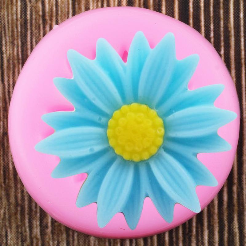 Цветок маргаритки Силиконовые формы DIY кекс Топпер Fondant украшения торта Инструменты Клей конфеты Шоколад Gumpaste Пресс-формы