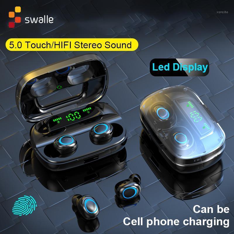 Toque TWS True Wireless Auriculares Bluetooth Mini TWS a prueba de agua a prueba de agua con auriculares de banco de energía para todos los teléfonos1