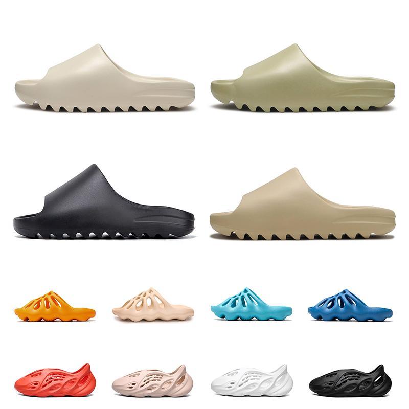 Acquista Kanye west diapositive uomo donna pantofole 450 sandali esterni da casa con piattaforma in resina di sabbia del deserto di alta qualità