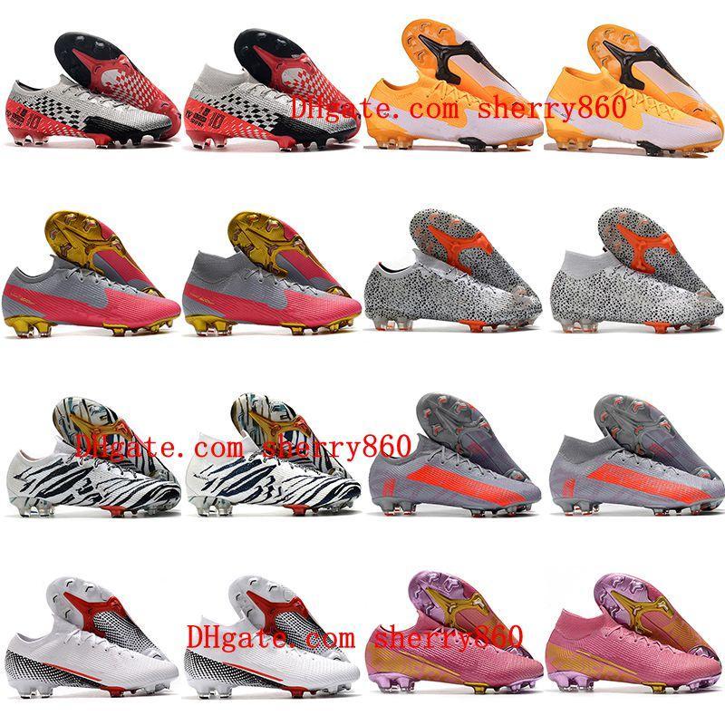 2021 أحذية كرة القدم رجل الأولاد mercurial superfly 7 7 النخبة se fg كرة القدم الأحذية النساء الأطفال cr7 نيمار رونالدو cleatssize 35-45