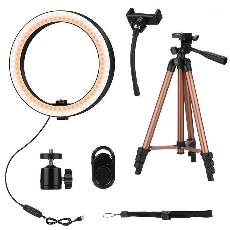 Luz de anel de Selfie 6 polegadas LED anel lâmpada com 50 polegadas tripé retrátil para fotografia de vídeo de selfie para youtube1
