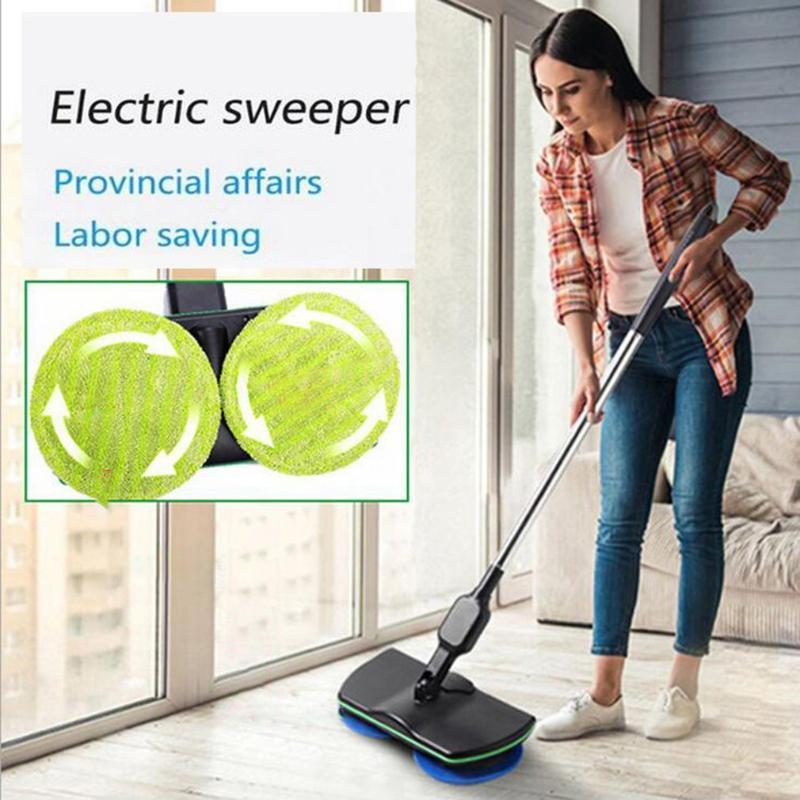 Household sem fio eléctrico de mão do impulso Sweeper microfibra Automatic Mop Máquina recarregável Limpeza Pad Início chão limpo Ferramenta