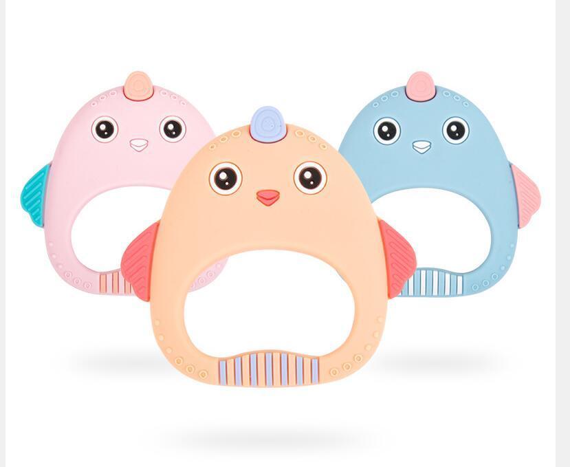 Bebek Diş Molarları Silika Jel Dişler Sevimli Sevimli Tavuk Masaj Gums Çocuk Oyuncakları1904215548