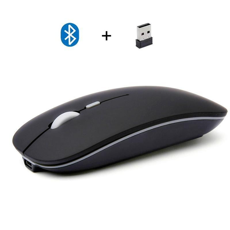 2020 Novo Modo Duplo Bluetooth 4.0 + Computador Sem Fio Slim Mouse Jogos PC Mini Laptop USB MICE Acessórios de computador desktop