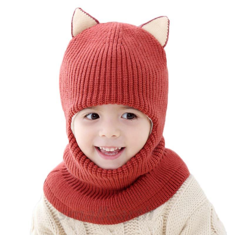 Automne hiver enfants chapeaux pom pom ballon chapeau enfants bonnets épais capillis garçons garçons chapeaux chapeaux chapeaux bébé écharpes écharpes bambins