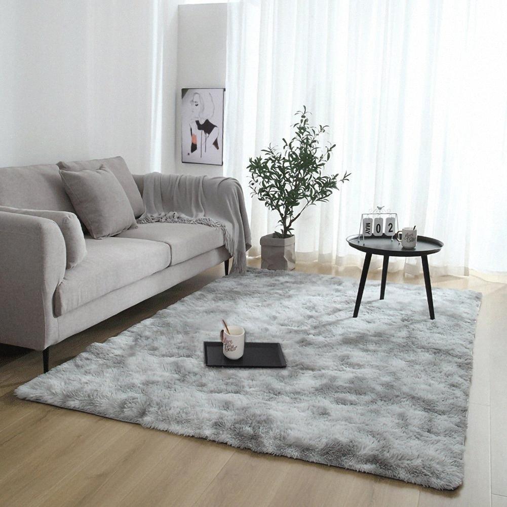 Por la alfombra de la sala grande mullidas alfombras anti de la resbalón lanudo manta de área de Comedor Dormitorio principal estera del piso 80 * 120cm / 31.5 * 47.3inch 15jo #