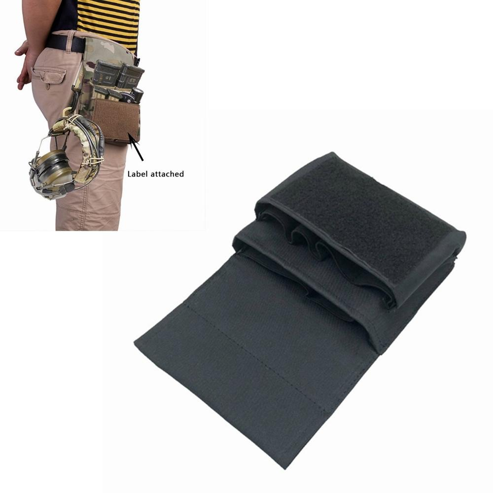 Shooting BLACK Rifle & Pistol Magazine Pouch MOLLE / Belt High Speed Mag Carrier Holds .223 and 9mm Magazine