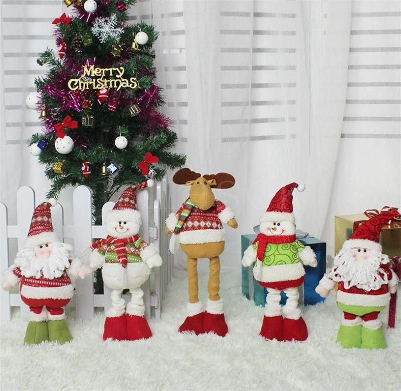 Weihnachtsdekorationen Stretch Santa Claus Schneemann Elch Puppe Kinder Weihnachtsgeschenke Indoor Weihnachtspuppe Dekorationen DB096