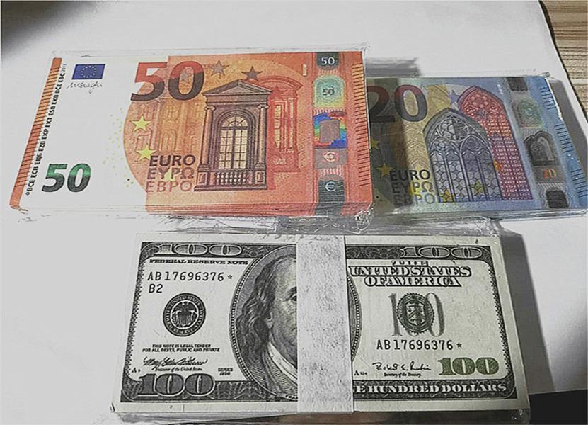 Vendita calda Contraffazione Euro Dollaro Banconota Pop Giocattolo Della Banconota Banconota Scarpa Funzionamento Funzionamento Film Giam-Play Collezione Bar Atmosphere Stage Party