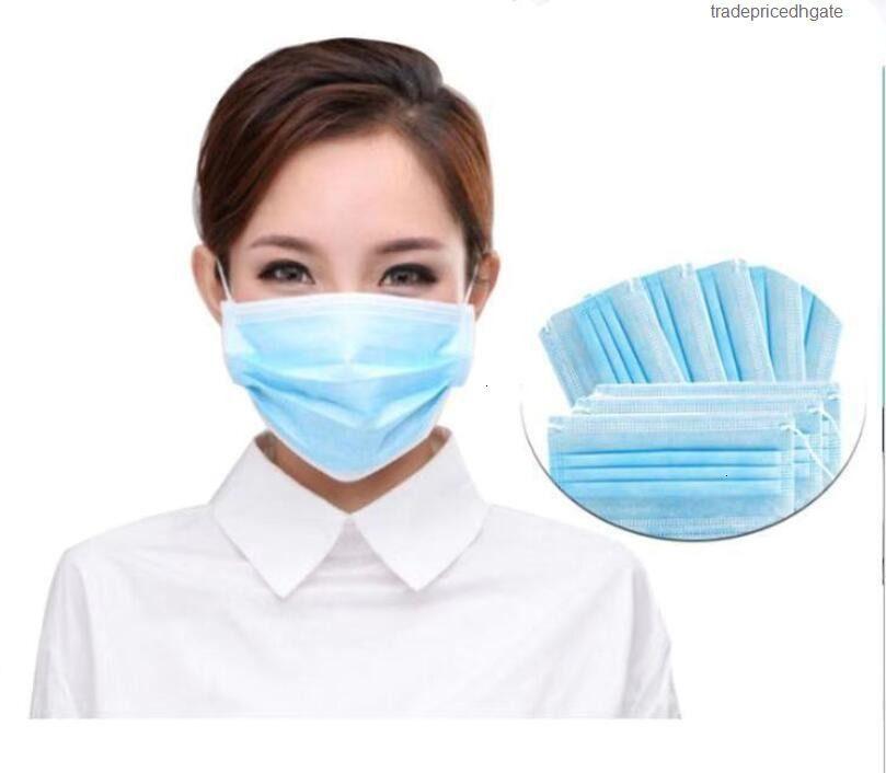 Masques d'embouchons à 3 couches jetables anti-poussière anti PM2.5 Hommes de sécurité 500Factify Soins élastiques Hommes et femmes Masques 7264991 7339044