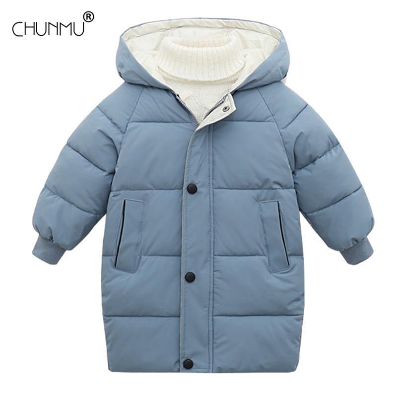 Manteau d'hiver Mode solide Veste longue pour les enfants garçons manteau chaud avec capuche Filles Vêtements Vêtements pour enfants Pour les enfants Parka 2-10 ans C1108