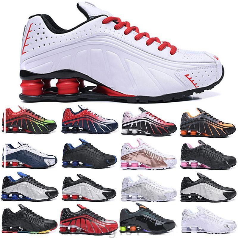 Zapatos casuales de aire para hombre Shox TL OG R4 Sports Sports Sneakers 301 Negro Metálicos Tonos vibrantes ORANGR Silver Shox Shoes Trainers BTRR