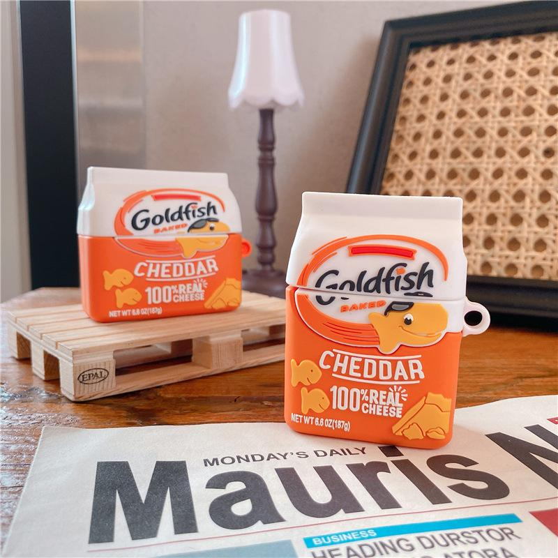 Silicona protectora 3D de Goldfish Goldfish para AirPods Pro Case para AirPod 1 2 Funda de auricular de la caja para casos de manzana Buletooth