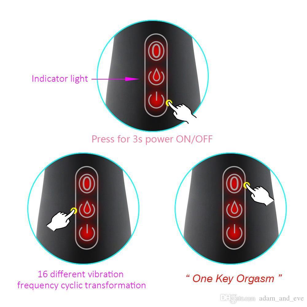 Female 16 Toys Rechargeable Vnkfa Simulation Sex Dildo Products Speed Women USB Vibrator AV Sex Vibrators For G-spot Masturbators Adult Cfhc
