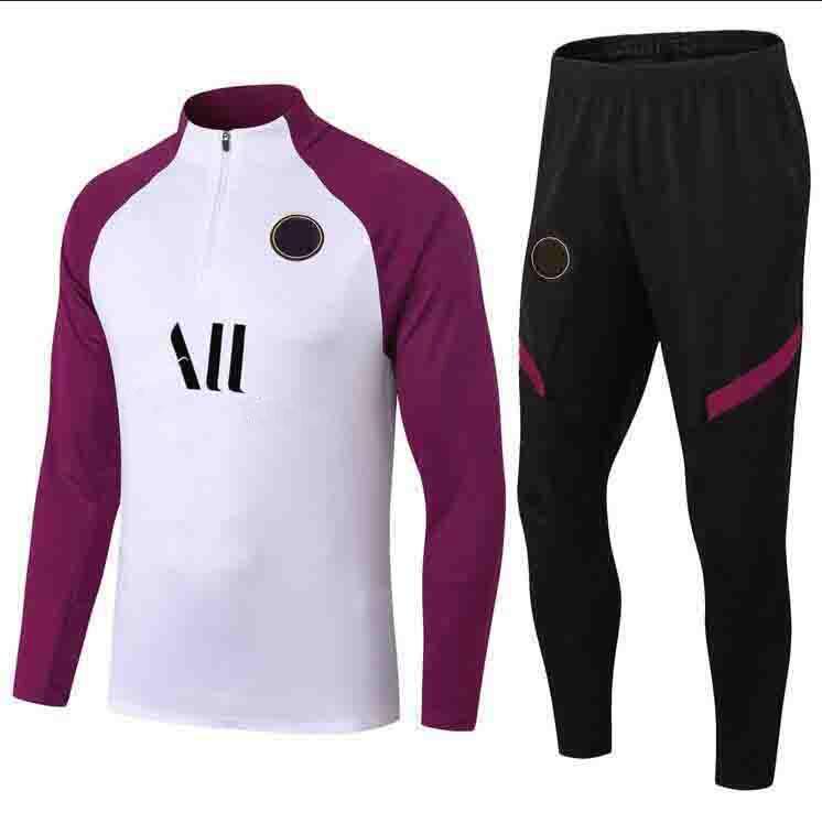 Lettre d'équipe Broderie Formation Tracksuit Hommes Fashion Sportwear Track Suites Football Exécution de la manches longues T-shirts Pantalon de jogger