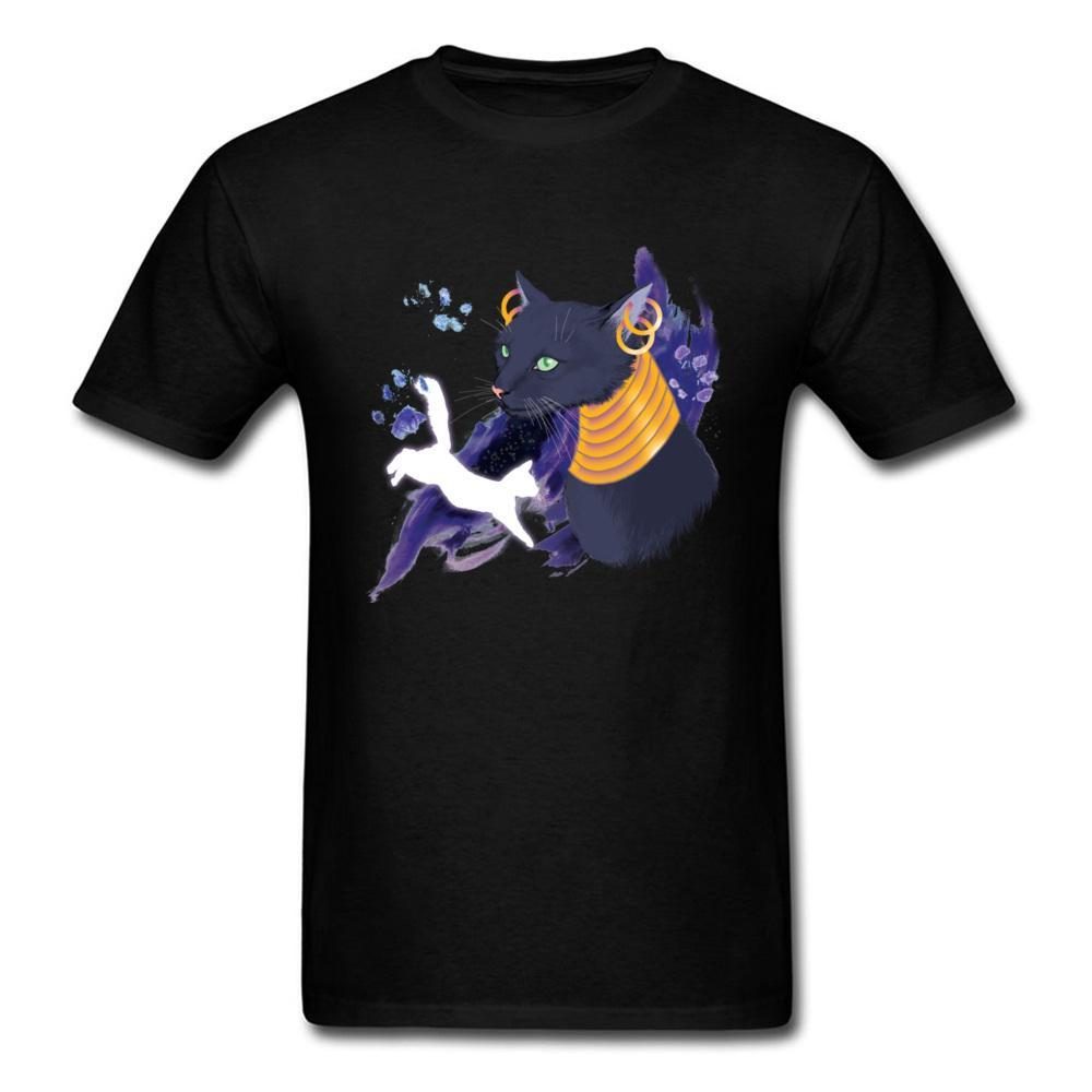 Brand New Bastet Stampa del gatto del fumetto Pittura maschio di alta qualità impressionante design nero adulto Top Sport Felpa con cappuccio uomini della maglietta