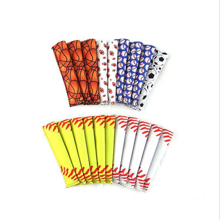 Beyzbol Popsicle Tutucu Pop Kollu Buz Lolly Çanta Yaz Çocuk Buz Kollu Dondurucular Popsicle Sahipleri Yeşil Paketleri Dondurma Araçları EWE2033