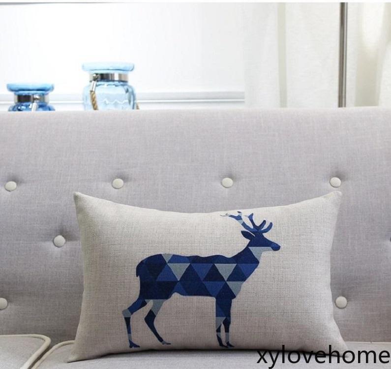 12x18inches Casa de campo Cubierta de almohada de lino Sublimación en blanco Ropa de almohada Rústico Caja de almohada Faux Burlap Cojín lumbar Cubierta Cubierta en blanco para el calor Press