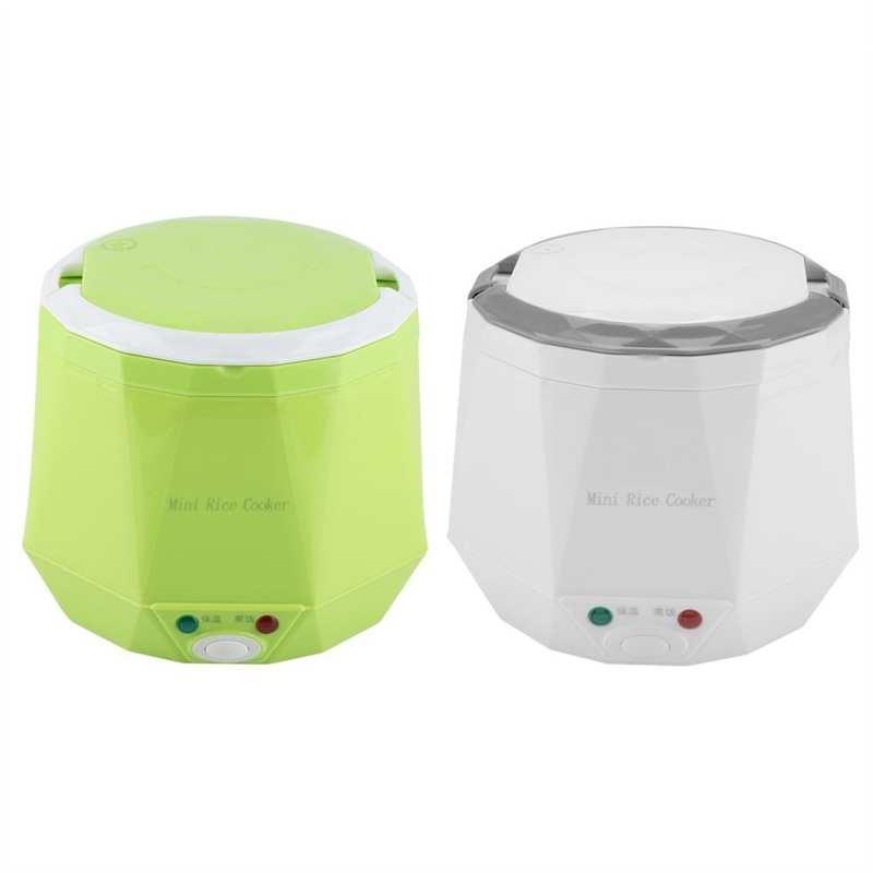 Fogões de arroz 1.6 l mini fogão 24v carro de carro de sopa de sopa de mingau máquina de cozinhar termostato aquecimento elétrico portátil