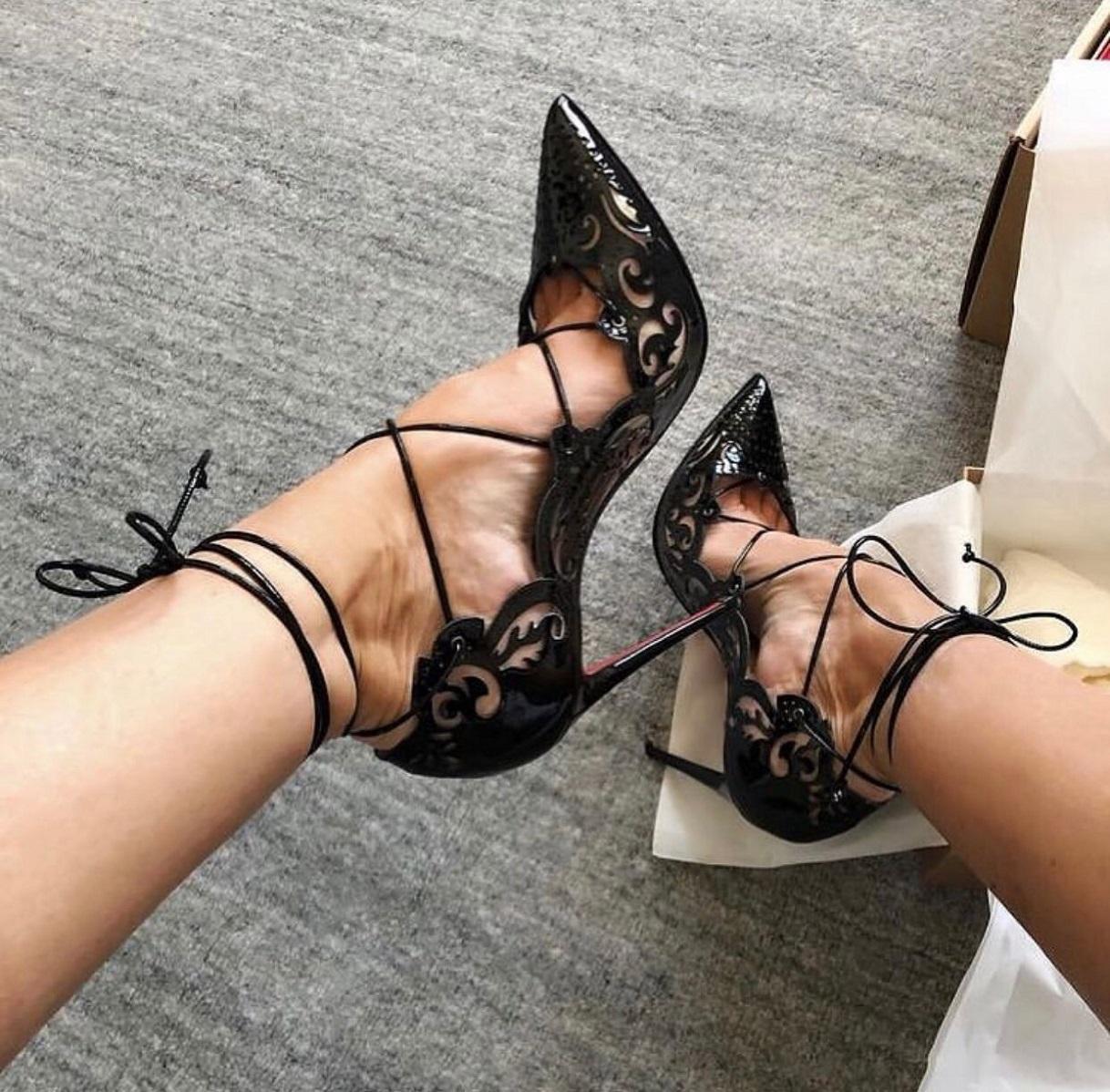 أنيقة سيدة حمراء أسفل مضخات النساء الأحذية أشار تو إمبيرا عالية الكعب مساء اللباس الزفاف مثير المصارع الخنجر كعب eu35-43