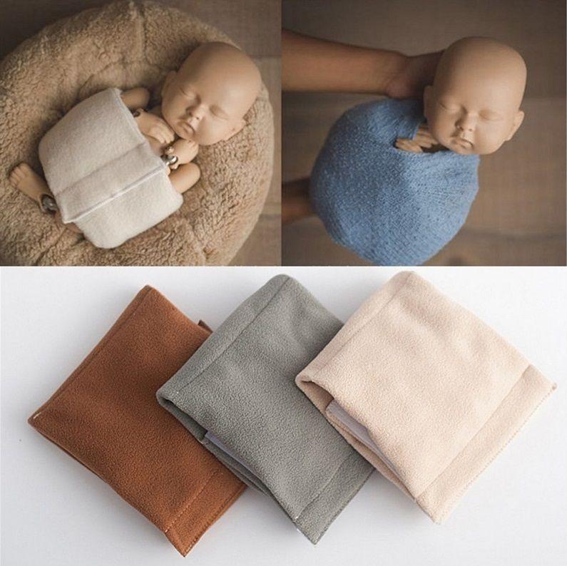 Recién nacido Posts Baby Posing Wraps Wrap Soft Wrap para Baby Photo Studio Photo Props Y201001