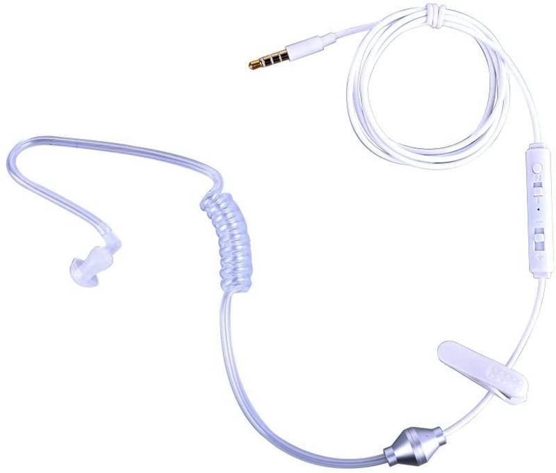 Earbud Anti Radiation Hörmuschel Mono Klar Kopfhörer-3.5mm Monaural Hohle Luftschlauch Wired Kopfhörer-Kopfhörer-Ohr-Knospe für iPhone Samsung Huawei