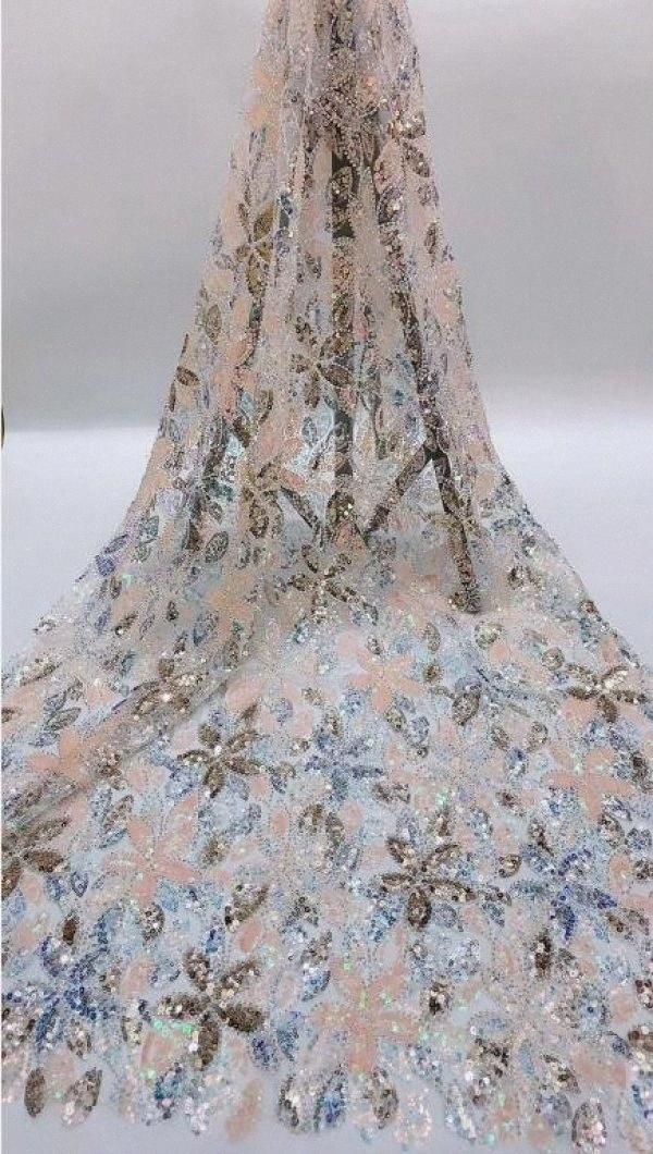 Нигерийский французский Net Lace Sophia 56,6810 Вышитого шнур шнурок ткань с выгнутыми буртиками для невесты платья Teal органзы лента 3 Wide Ribbo ZJeh #