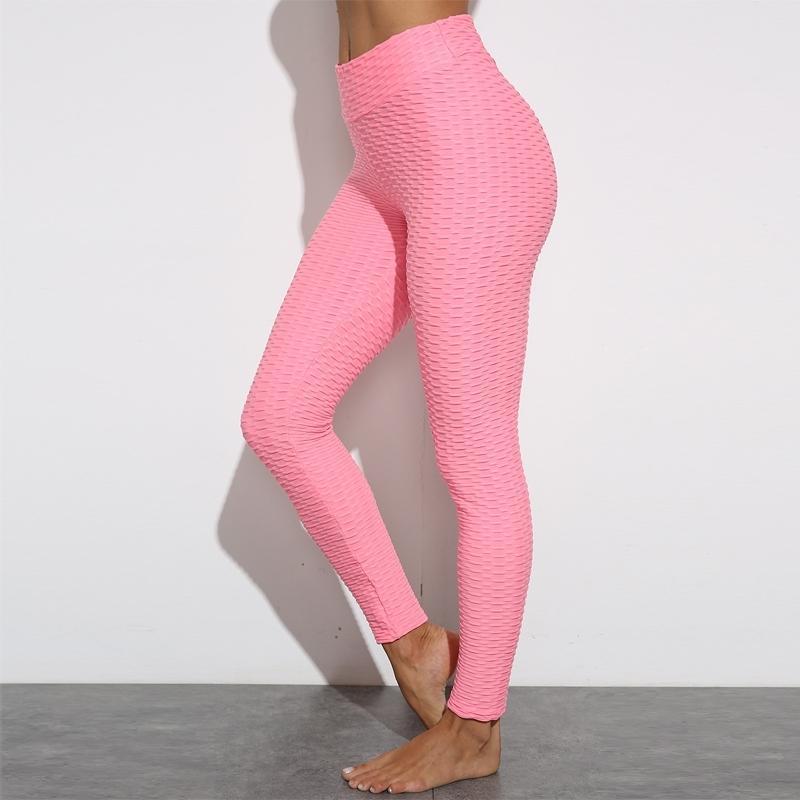 Pink sexy calcio sollevamento allenamento leggings anti cellulite push up pantaloni vita alta atlesia gym leggins sport donne fitness 201203