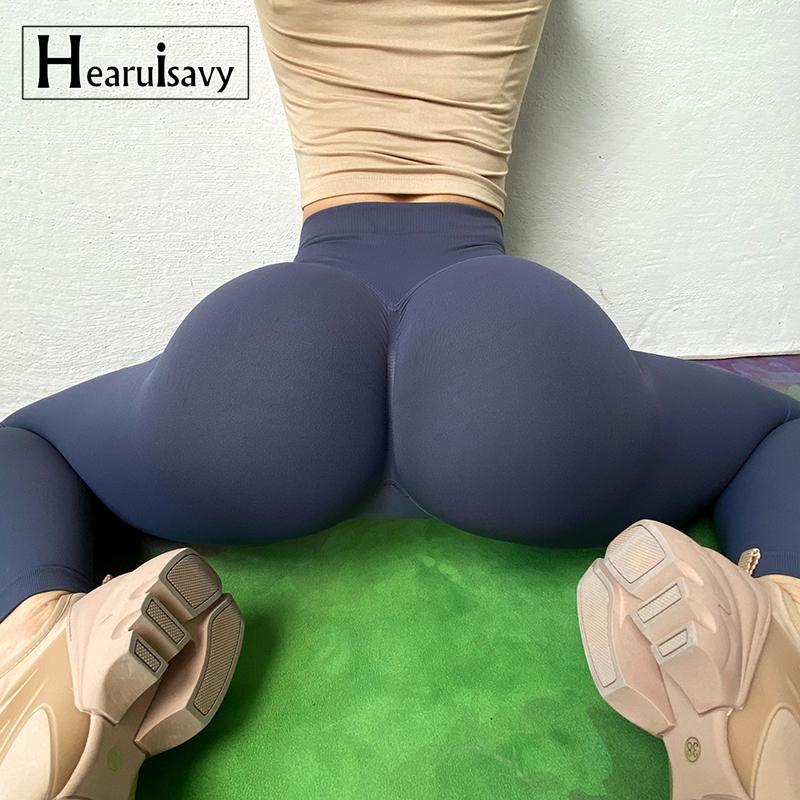 Abrufenbedürftiger Yoga Broek-elastischer Sport-Fitness-Legging-Frauen-High-Heck-Turnhallen-Scrunch-Hintern-Schleifstraining-Leggings