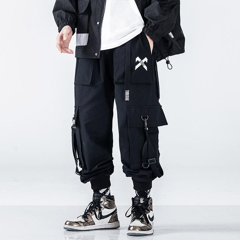 Корсет Комбинезон мужской модного бренда Slim Spring и осень Trend универсальный свободные черные повседневные штаны