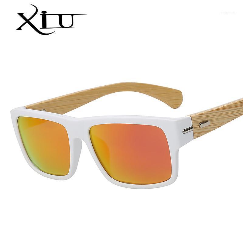 XIU gafas de sol polarizadas Hombres Vintage Gafas de bambú Moda Gafas de sol Mujeres Diseñador de marca Masculino1