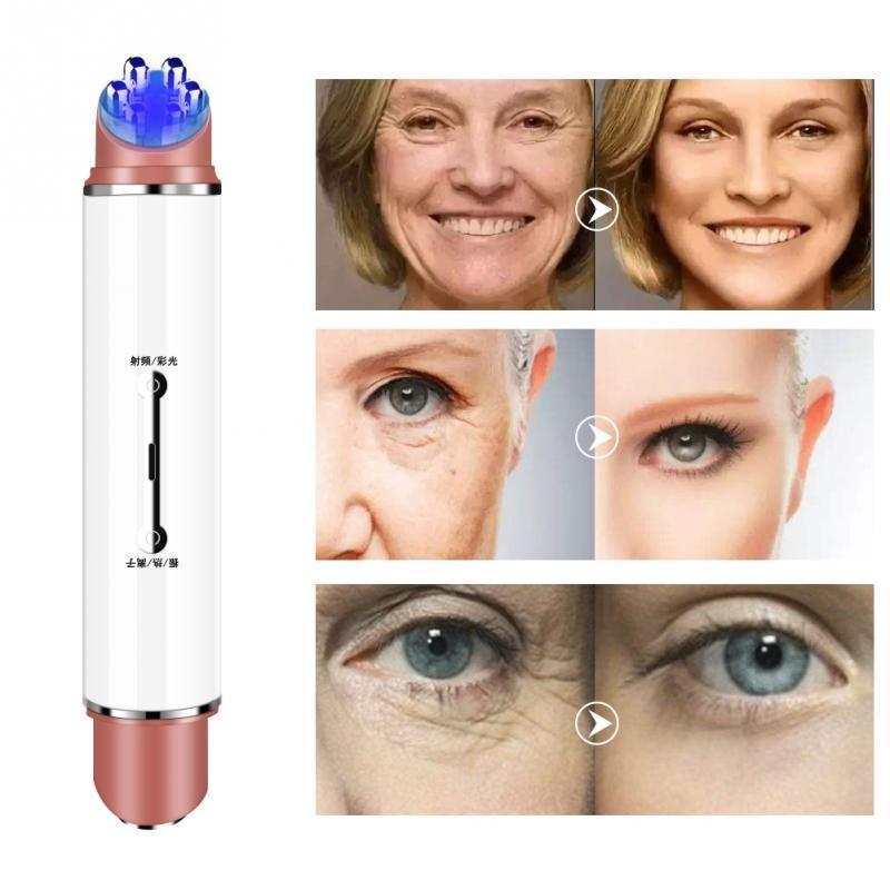 مصغرة EMS العين مدلك الكهربائية 43 الاهتزاز الوجه العين تدليك لمكافحة التجاعيد إزالة الفوتون العلاج الجلد الوجه جهاز شد