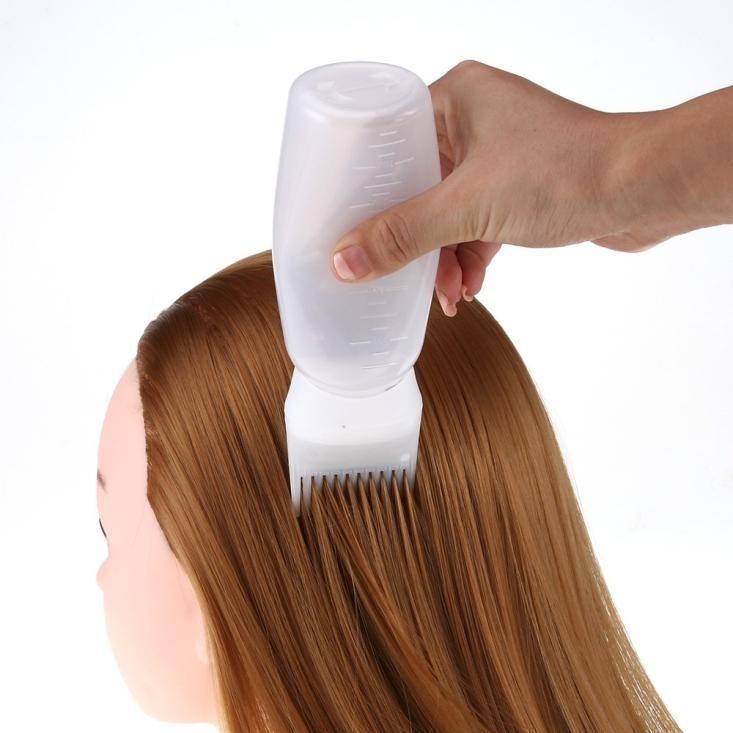 Волос Портативный мини Handy Горячие краски для волос Флакон Аппликатор Кисть Дозирование салон Окрашивание Окрашивание Comb Женщины Styling Tool