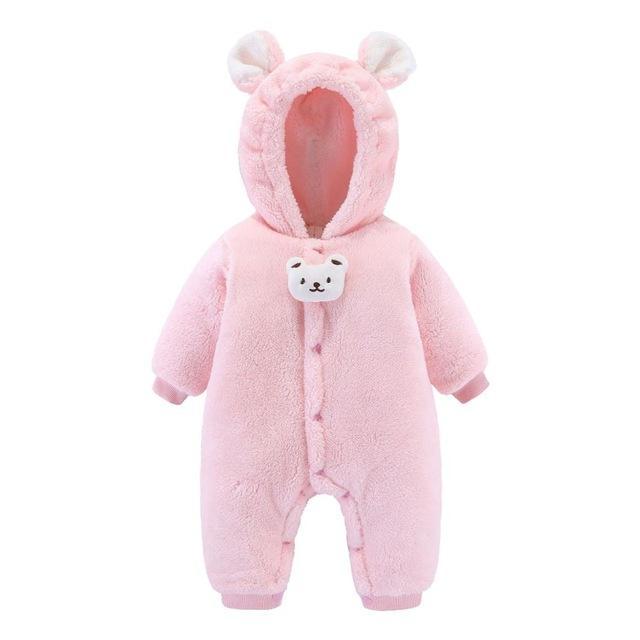 2020 invierno recién nacidos mamelucos bebé niña ropa de dibujos animados con capucha lana mono infantil mono mono grueso cálido niño niños ropa